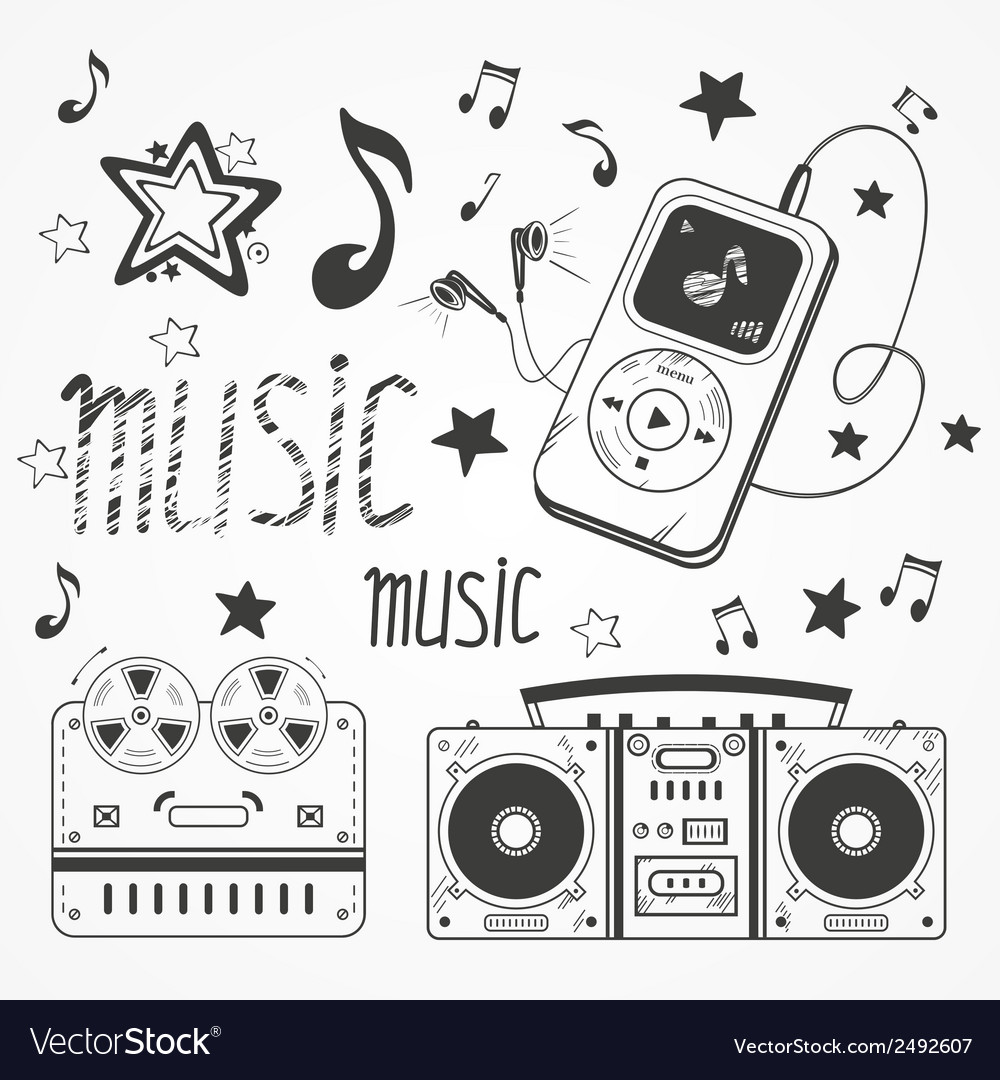 Sketchy music vector | Price: 1 Credit (USD $1)