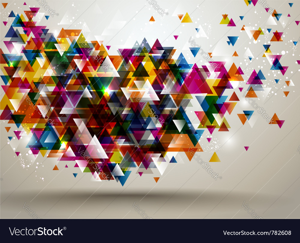 Background with triangle pattern vector | Price: 1 Credit (USD $1)