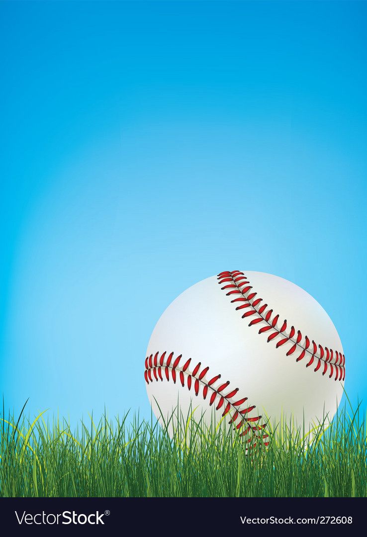 Baseball ball vector | Price: 1 Credit (USD $1)