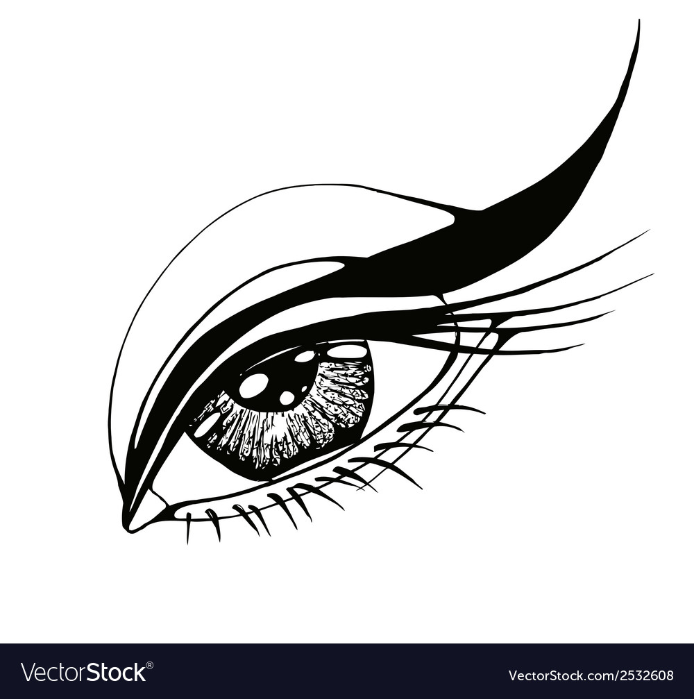 Beautiful woman eye vector | Price: 1 Credit (USD $1)