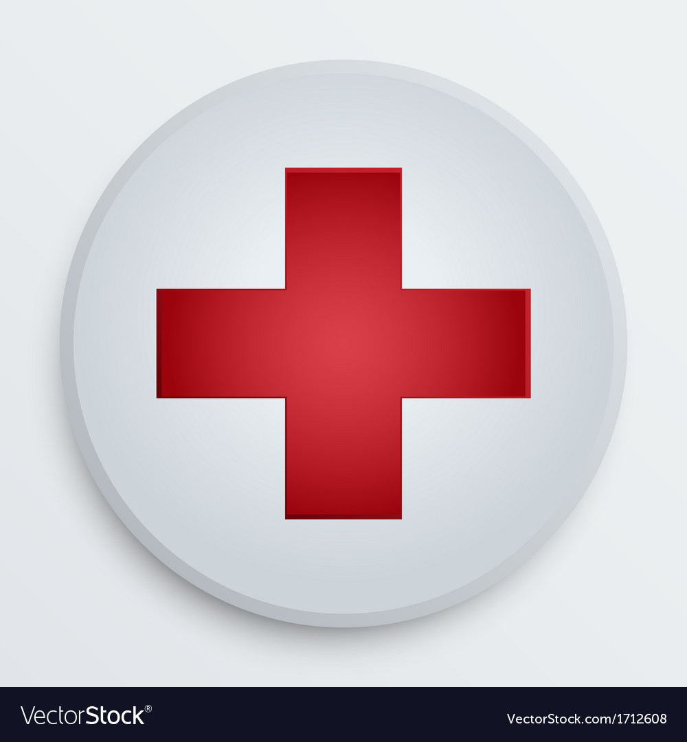 First aid medical button symbol vector | Price: 1 Credit (USD $1)