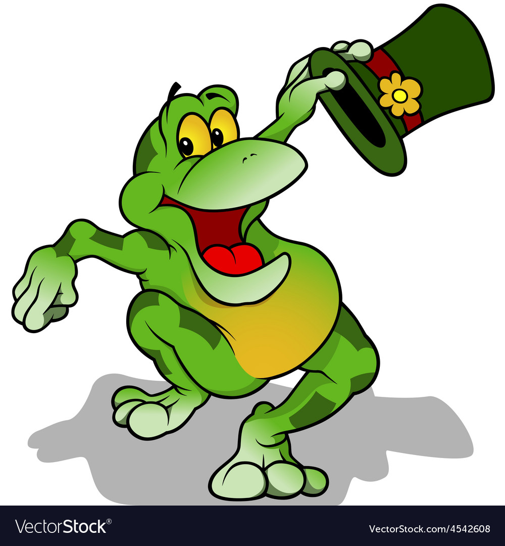 Frog with hat vector | Price: 1 Credit (USD $1)