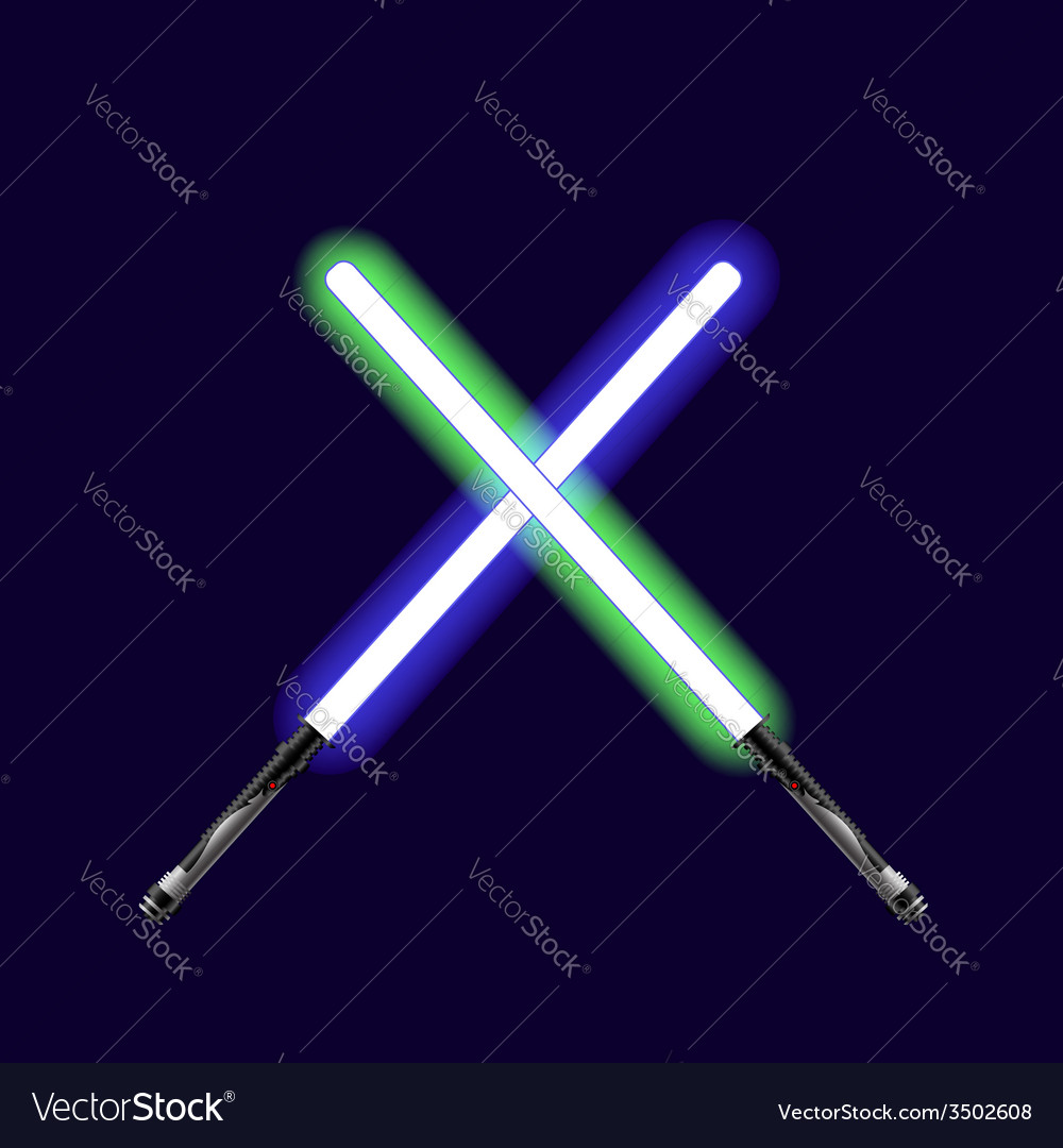 Light sabers vector | Price: 1 Credit (USD $1)