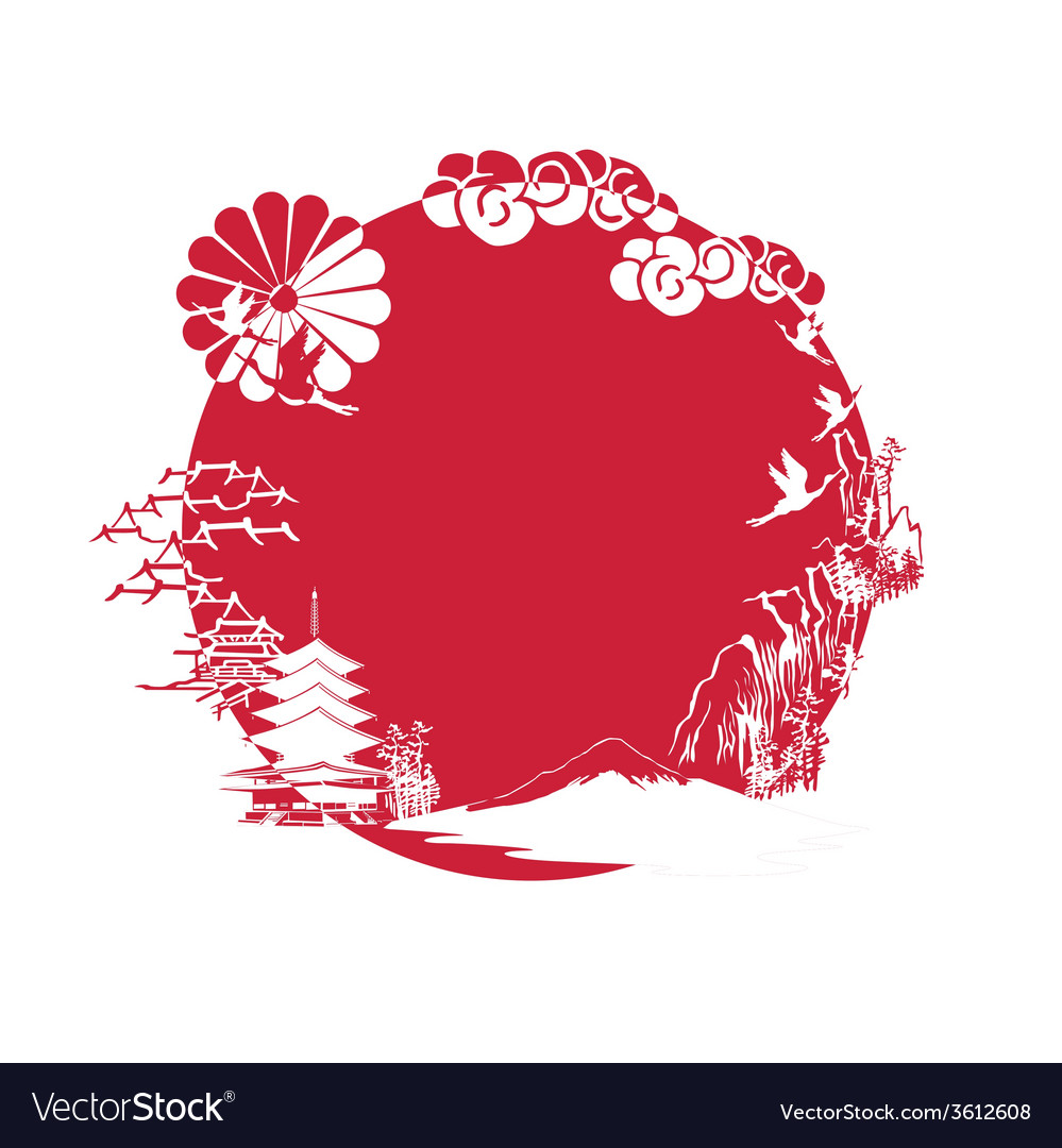 Miniature symbolizing japan vector | Price: 1 Credit (USD $1)