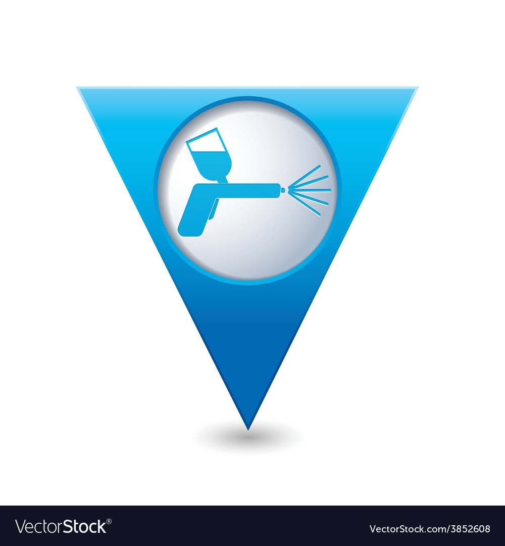 Painting of cars blue triangular map pointer vector | Price: 1 Credit (USD $1)