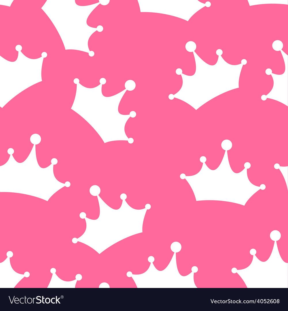 Princess seamless pattern background vector | Price: 1 Credit (USD $1)