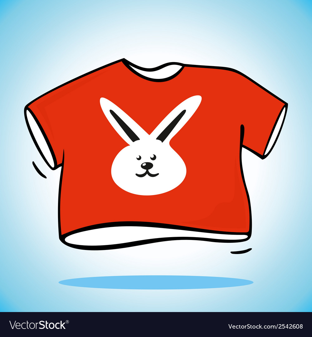 Red t-shirt vector | Price: 1 Credit (USD $1)