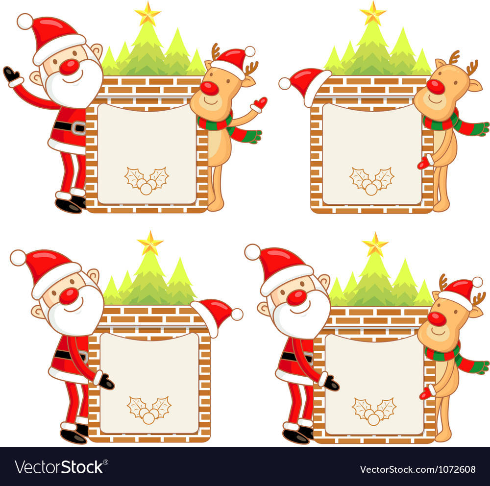 Santa claus and rudolph mascot the event activity vector | Price: 3 Credit (USD $3)