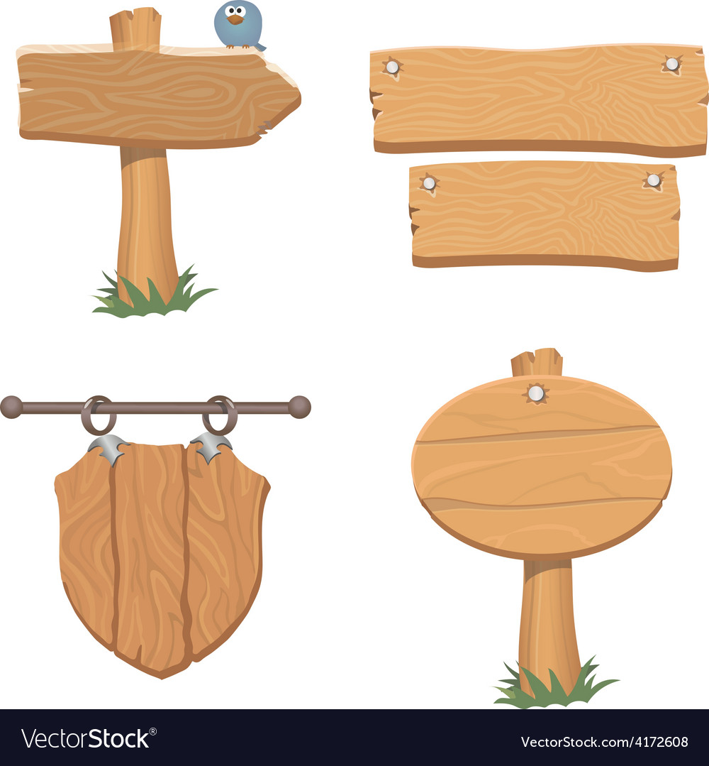 Wooden pointers and signs vector | Price: 3 Credit (USD $3)