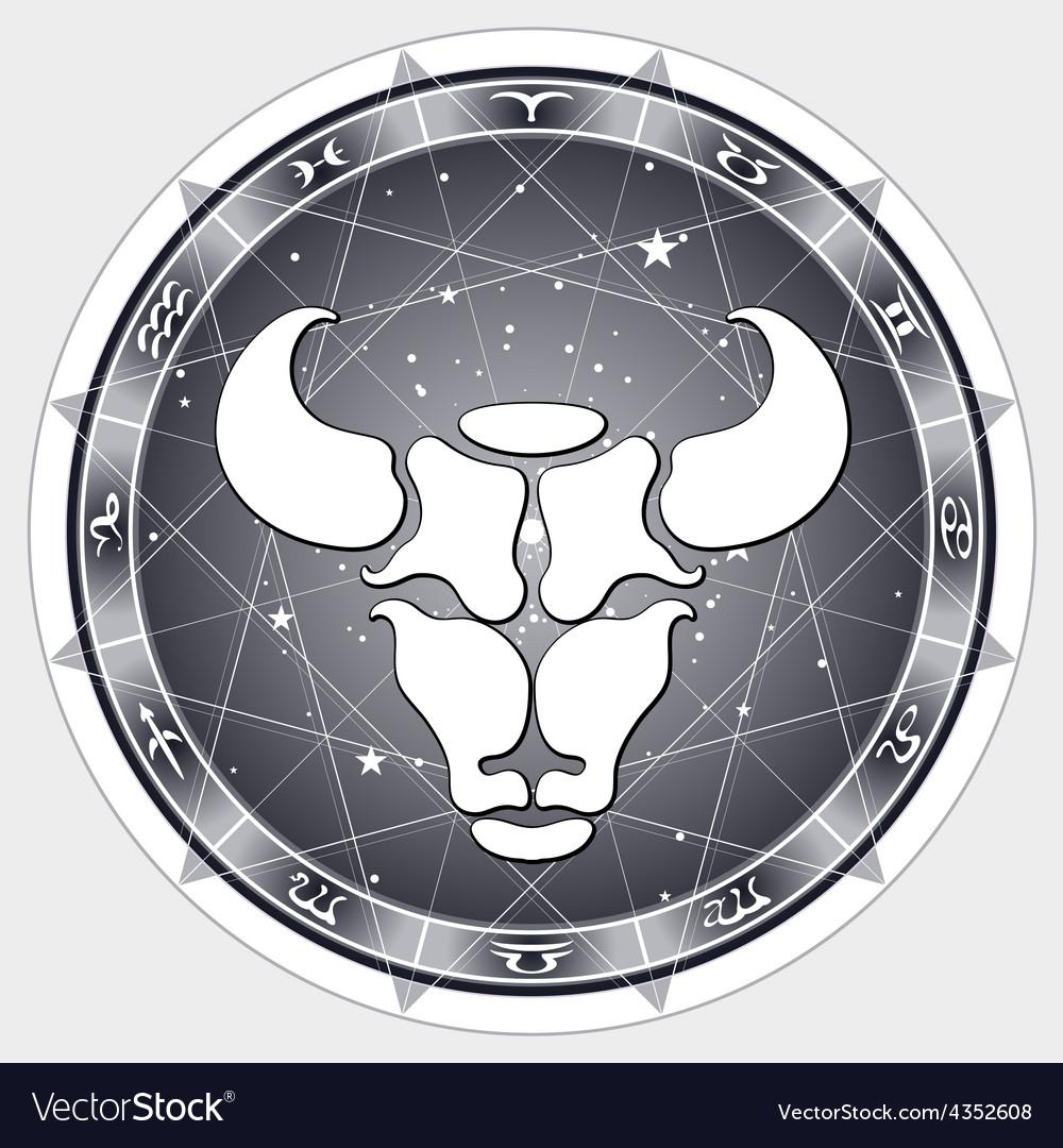 Zodiac sign taurus vector   Price: 1 Credit (USD $1)