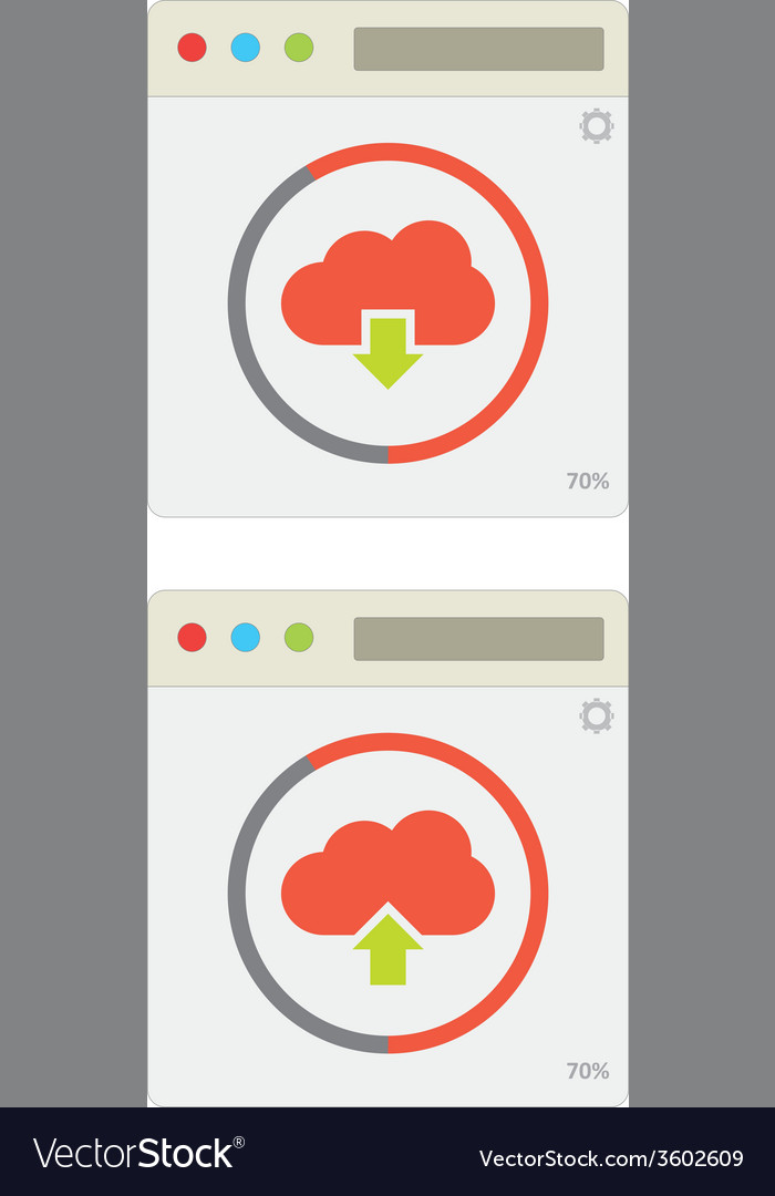 Cloud download and upload 10 vector | Price: 1 Credit (USD $1)