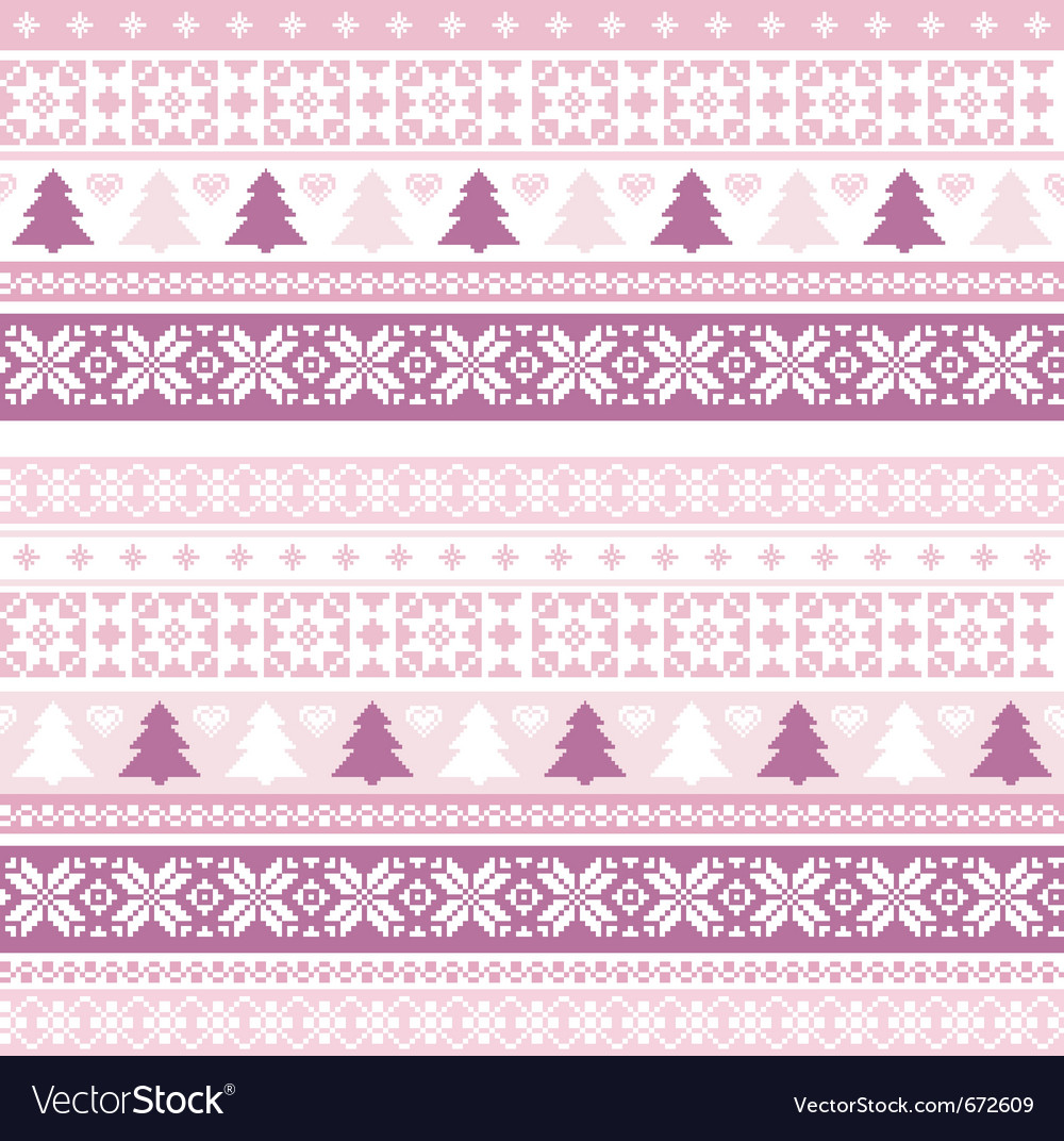 Decorative seamless background christmas handmade vector | Price: 1 Credit (USD $1)