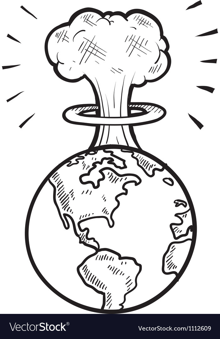 Doodle earth nuke vector | Price: 1 Credit (USD $1)