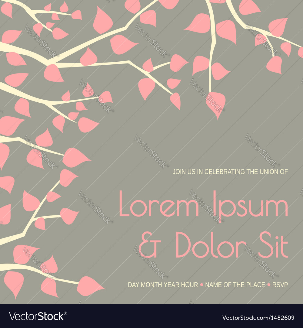 Elegant wedding invitation design template vector | Price: 1 Credit (USD $1)