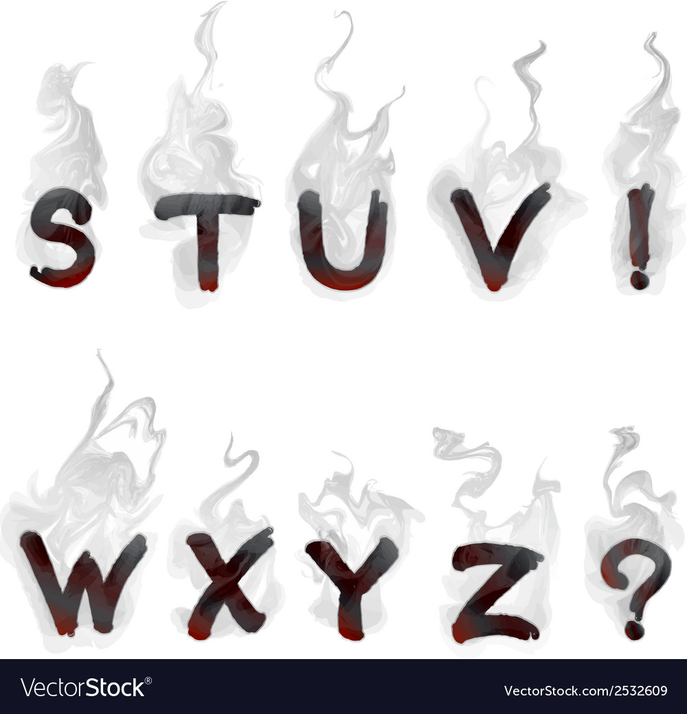 English smoking alphabet vector | Price: 1 Credit (USD $1)