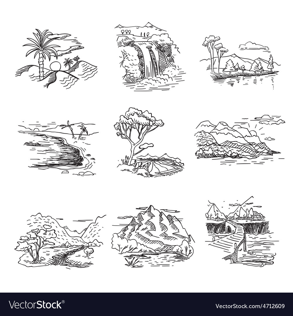 Hand drawn rough draft doodle sketch nature vector | Price: 1 Credit (USD $1)