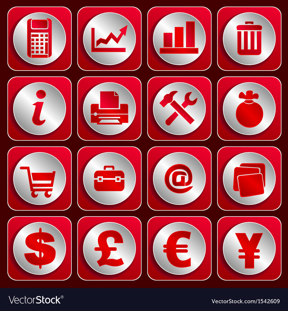 Icon set 4 vector | Price: 1 Credit (USD $1)
