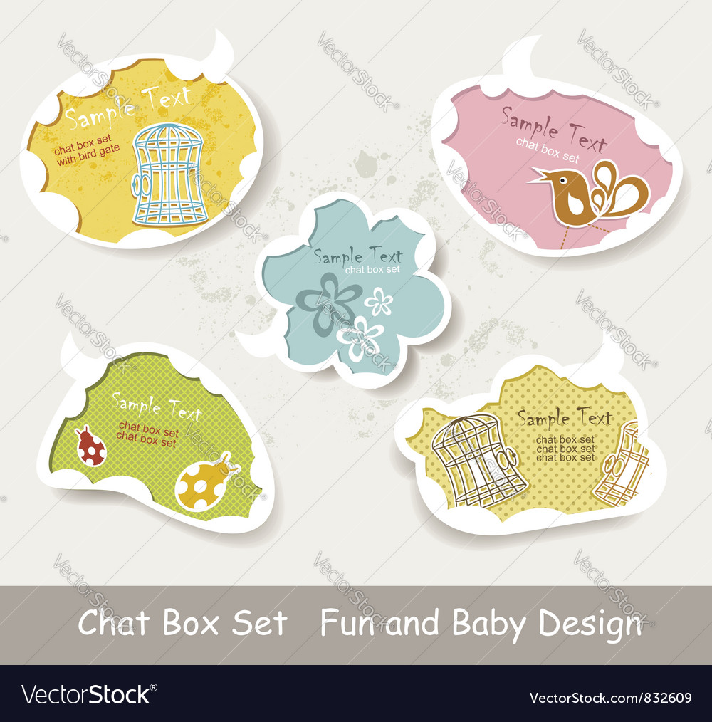 Idea bulbs baby chat bubbles vector | Price: 1 Credit (USD $1)