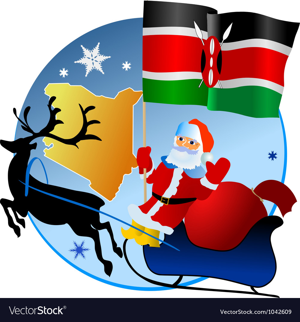 Merry christmas kenya vector | Price: 1 Credit (USD $1)