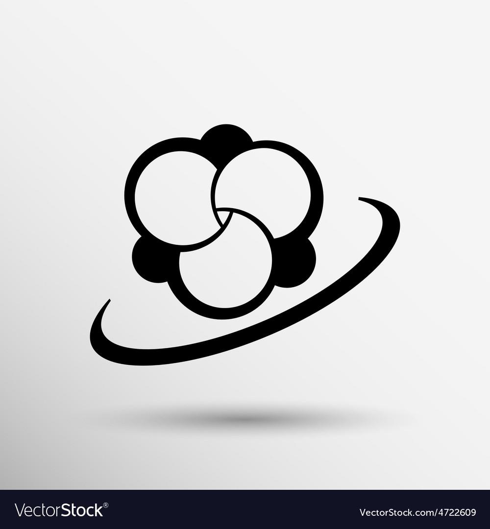 Molecule icon atom chemistry symbol element vector | Price: 1 Credit (USD $1)