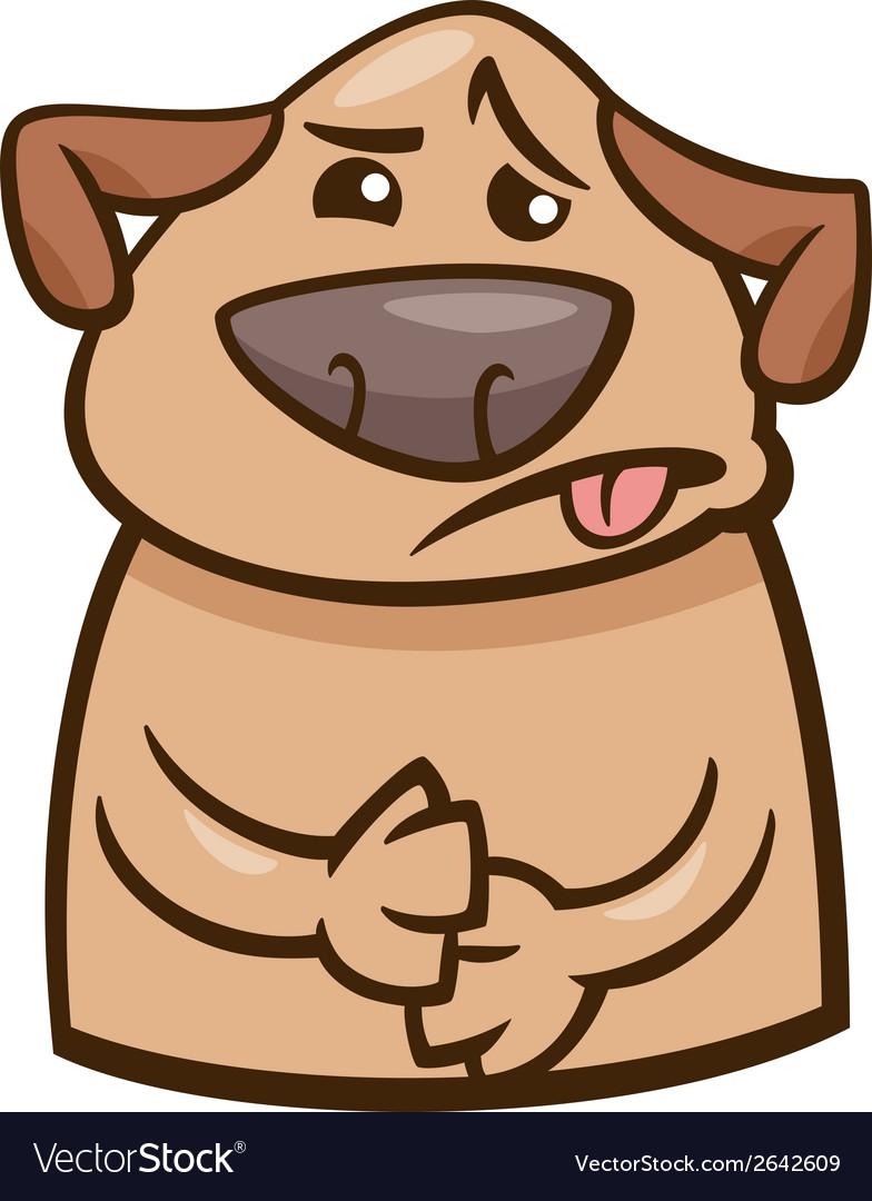 Mood sick dog cartoon vector   Price: 1 Credit (USD $1)
