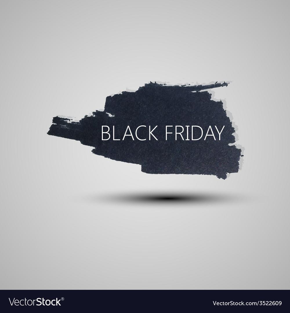 Splash grunge watercolor background black friday vector | Price: 1 Credit (USD $1)