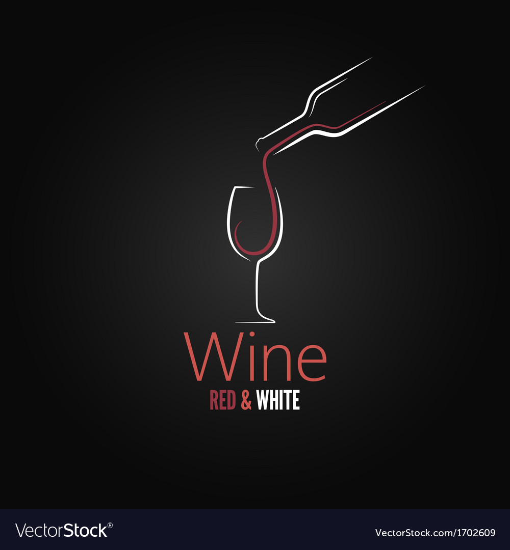 Wine glass concept menu design vector | Price: 1 Credit (USD $1)