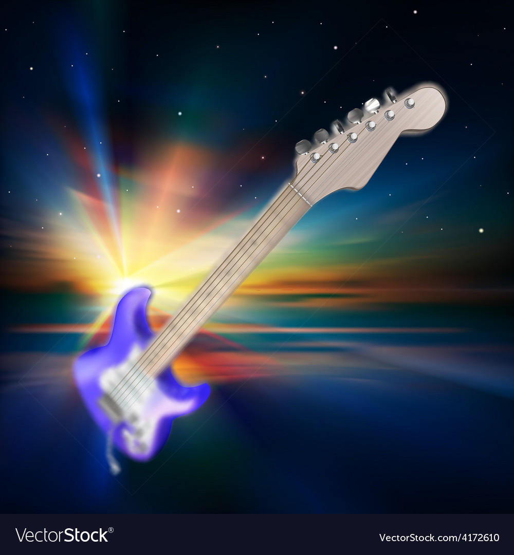 Abstract music background with electric guitar and vector | Price: 3 Credit (USD $3)