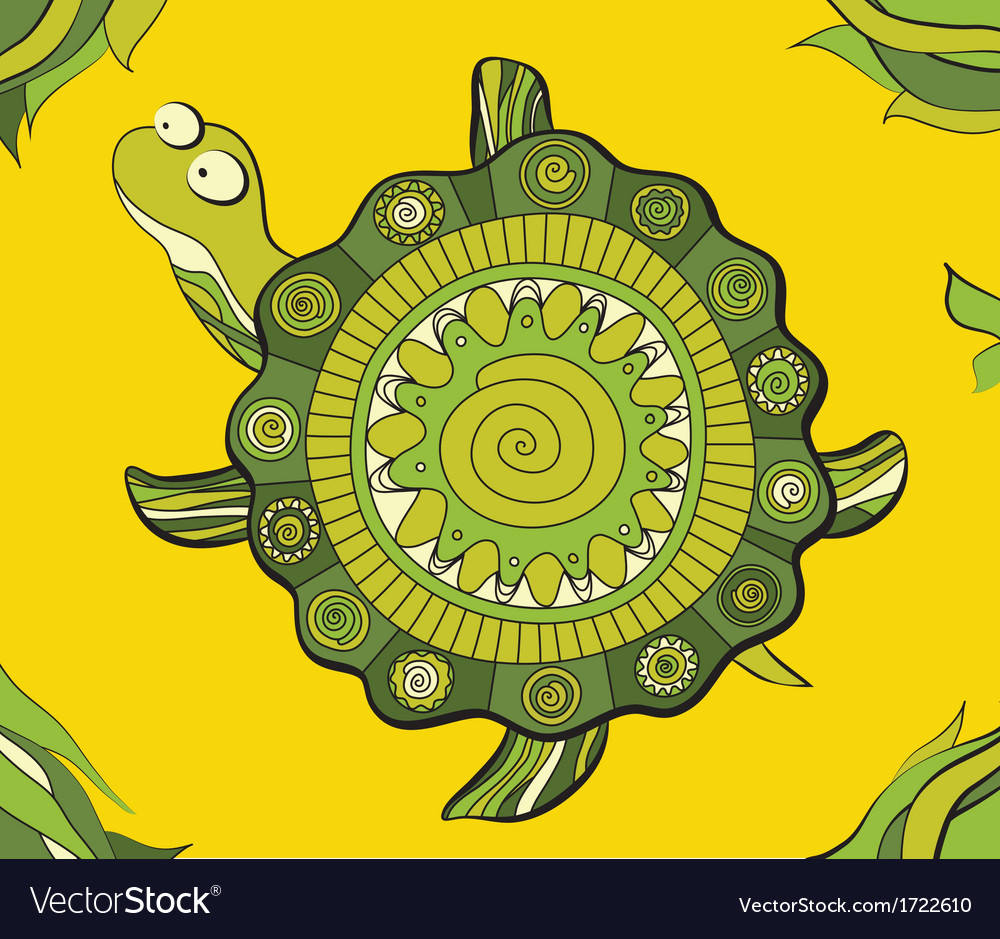 Artistic turtle vector | Price: 1 Credit (USD $1)