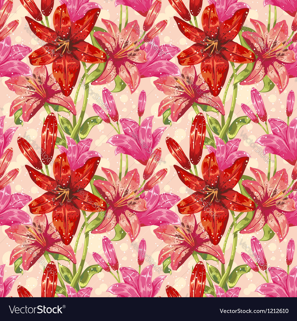Colorful stylish spring floral seamless pattern vector | Price: 1 Credit (USD $1)