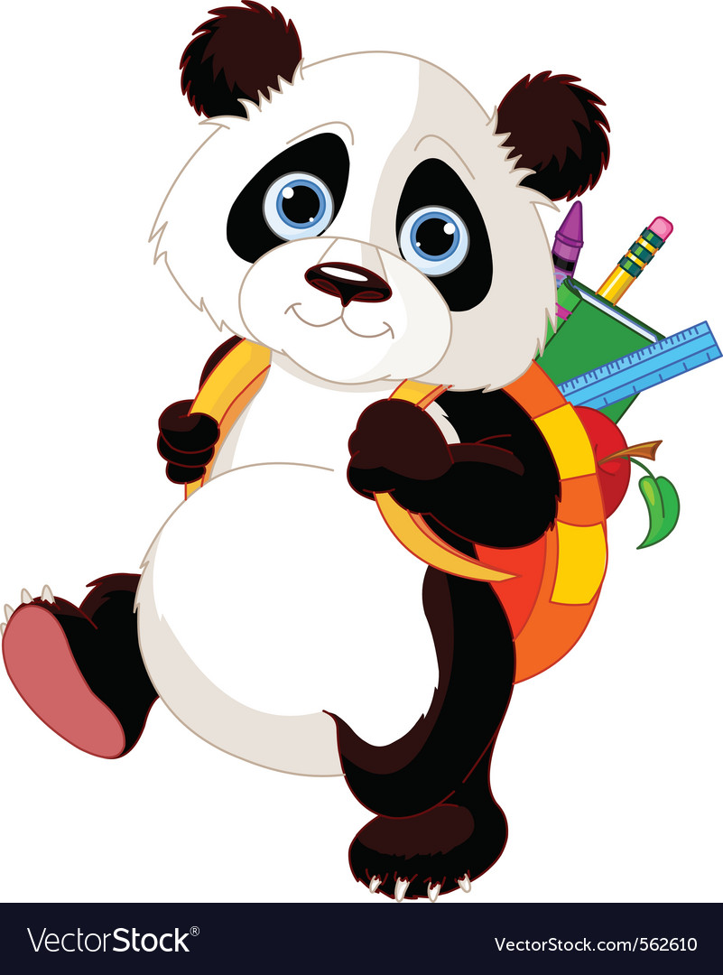 Cute panda vector | Price: 1 Credit (USD $1)