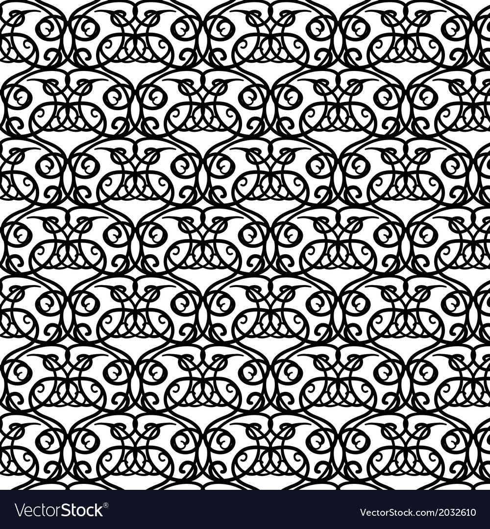 Elegant royal black and white hand-drawn pattern vector | Price: 1 Credit (USD $1)