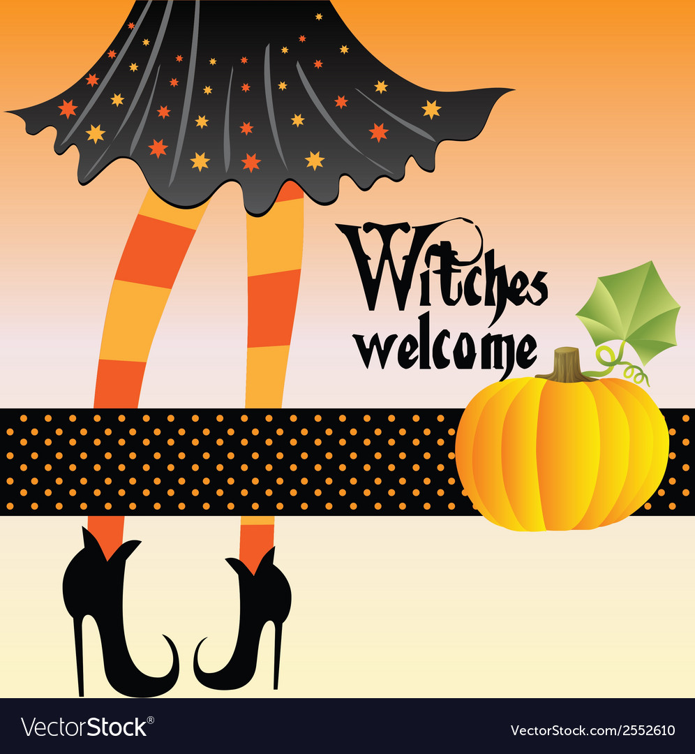 Halloween greeting card vector | Price: 1 Credit (USD $1)