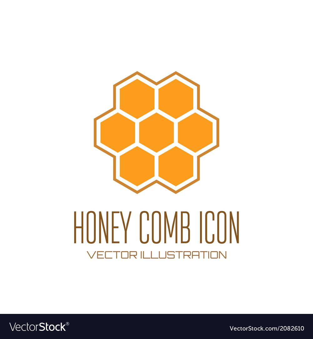 Honey comb icon vector