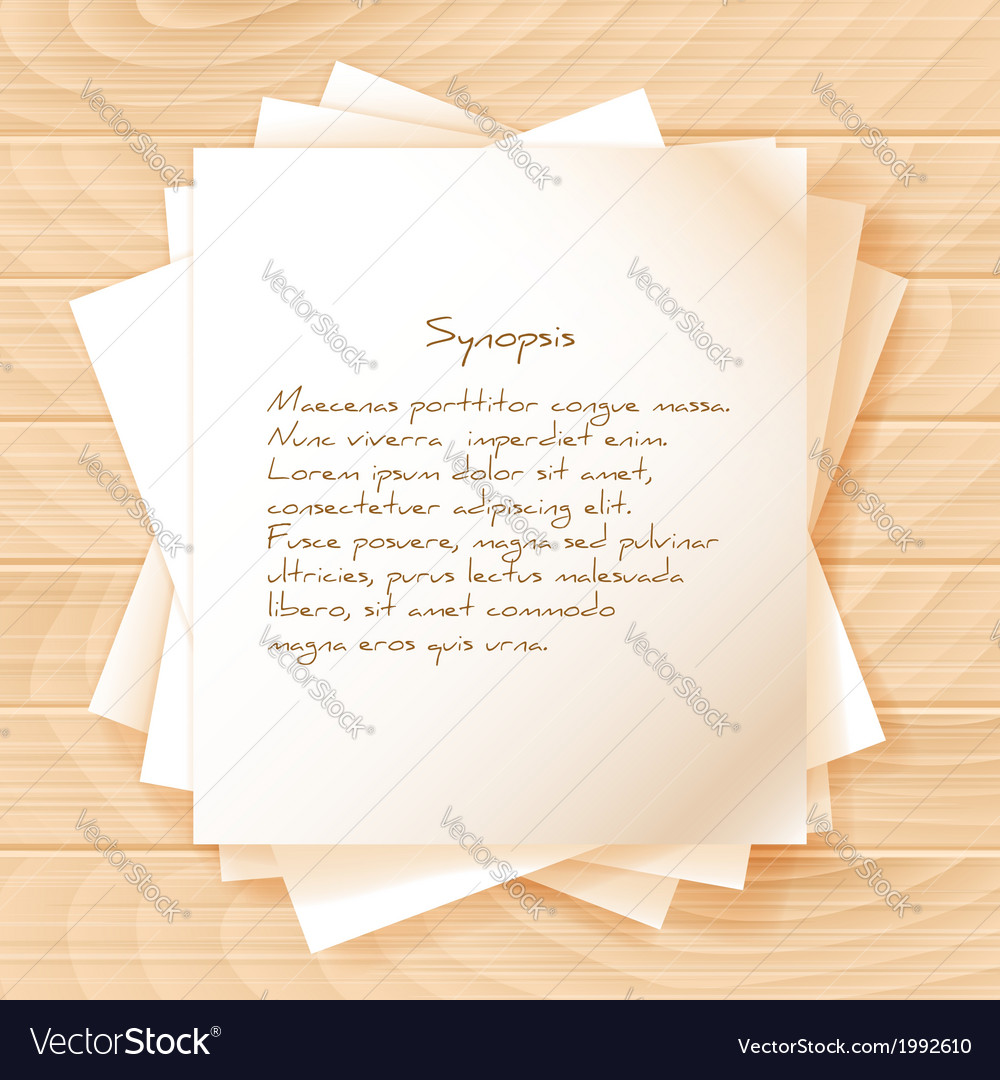 Stack of papers on wooden background vector | Price: 1 Credit (USD $1)