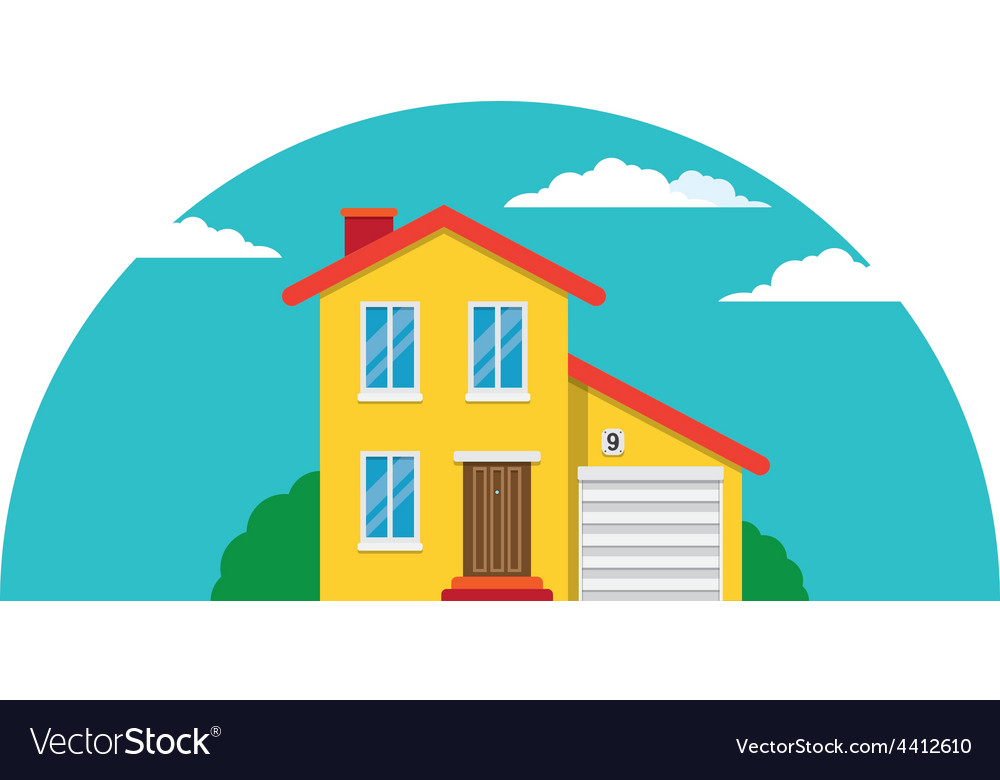 Townhouse flat house vector | Price: 1 Credit (USD $1)