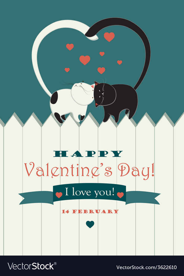Two cats in love vector | Price: 1 Credit (USD $1)