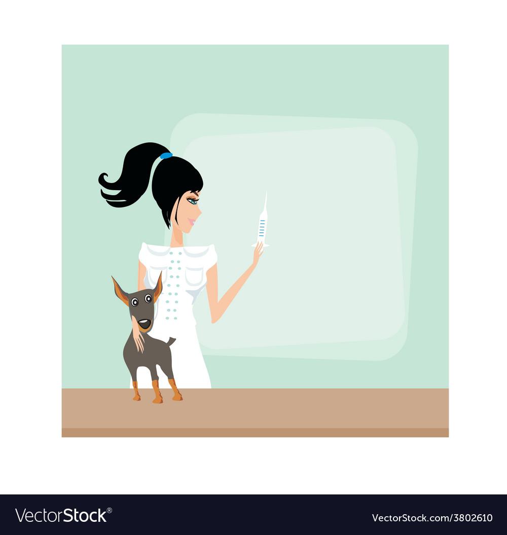Veterinary animal doctor vector | Price: 1 Credit (USD $1)