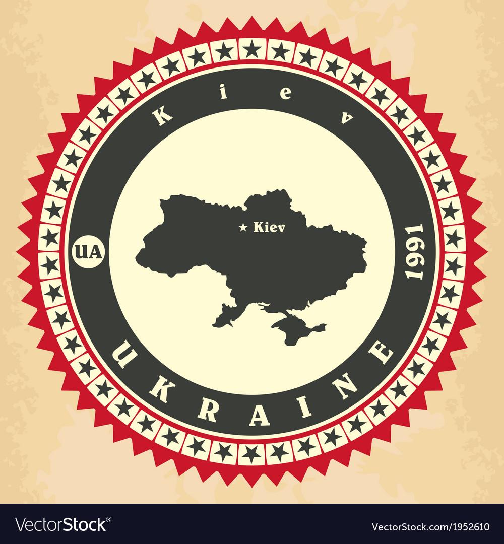 Vintage label-sticker cards of ukraine vector   Price: 1 Credit (USD $1)