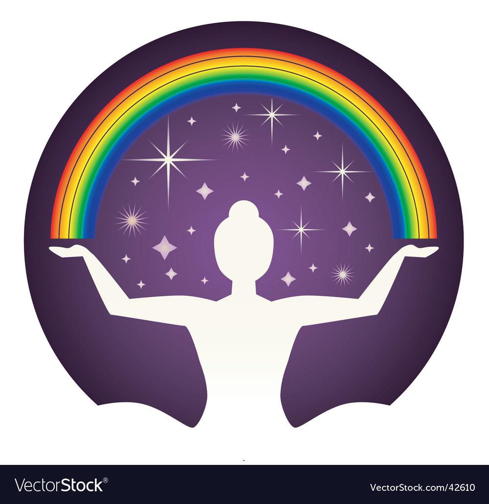Yogi and rainbow vector | Price: 1 Credit (USD $1)