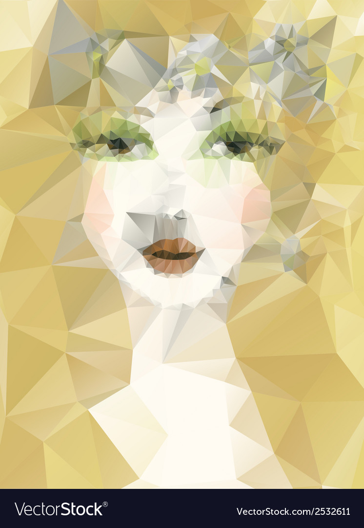 Artistic portrait of girl vector | Price: 1 Credit (USD $1)