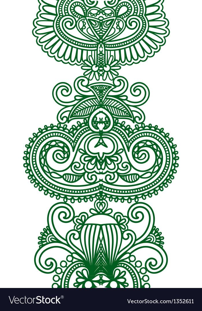 Asian ethnic ornament vector | Price: 1 Credit (USD $1)