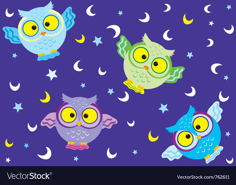 Background owl 2 vector | Price: 1 Credit (USD $1)