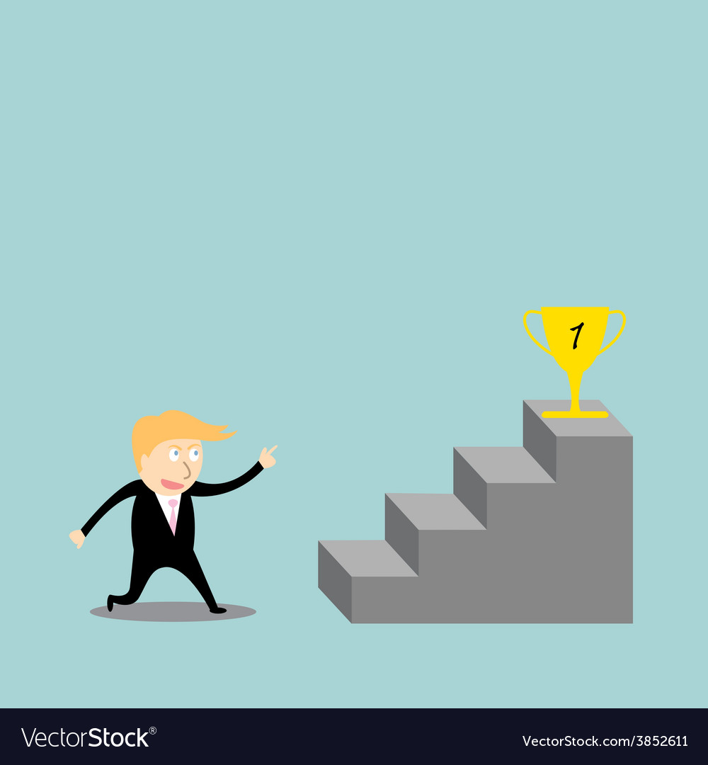 Businessman climbing the ladder of success vector | Price: 1 Credit (USD $1)