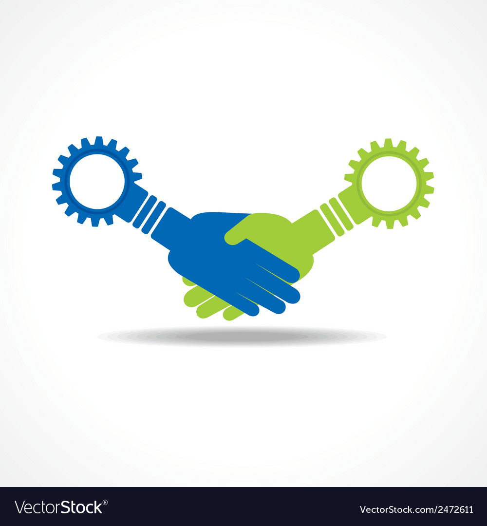 Businessman handshake with gear stock vector | Price: 1 Credit (USD $1)