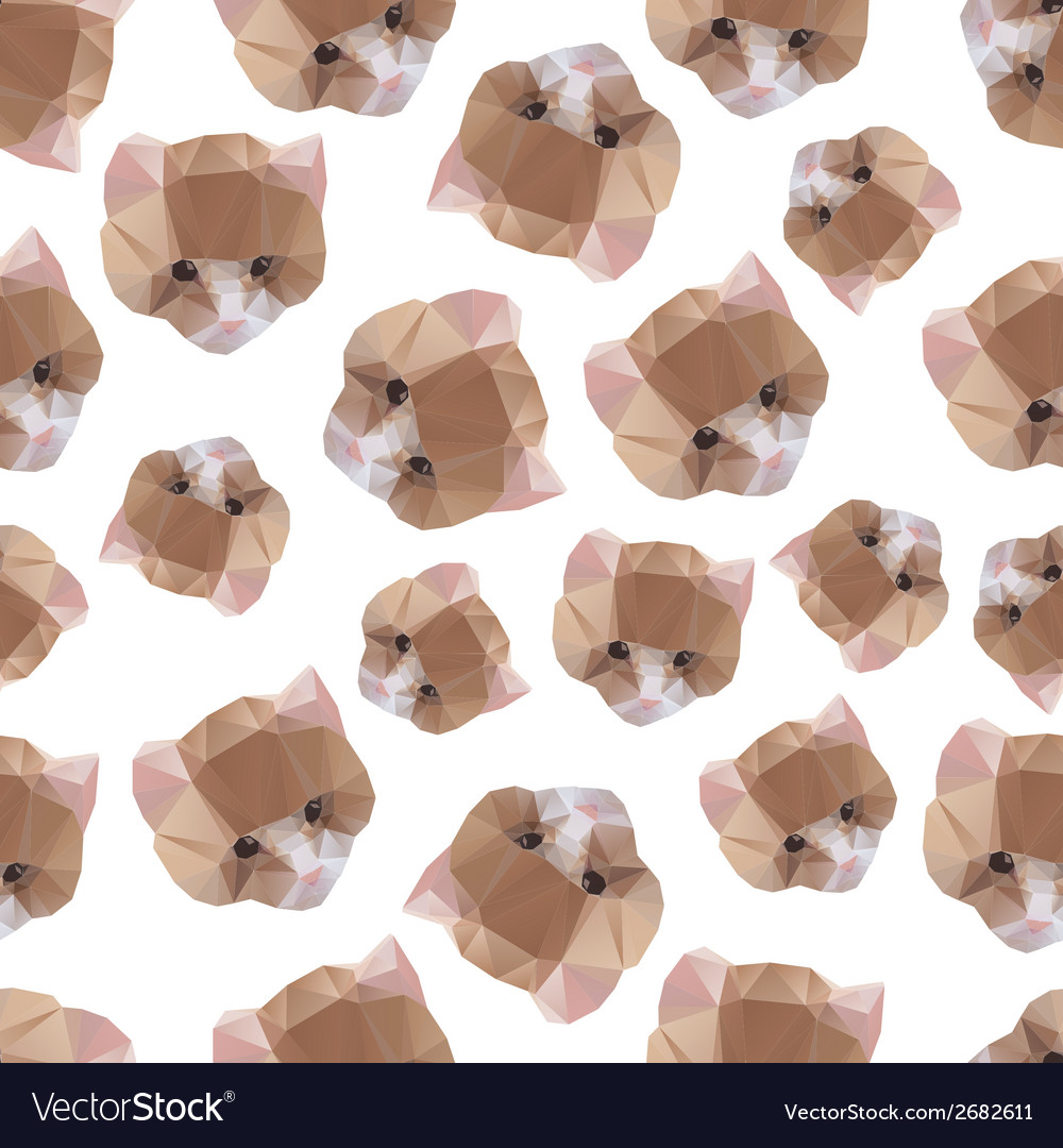 Cat from a geometrical pattern vector | Price: 1 Credit (USD $1)
