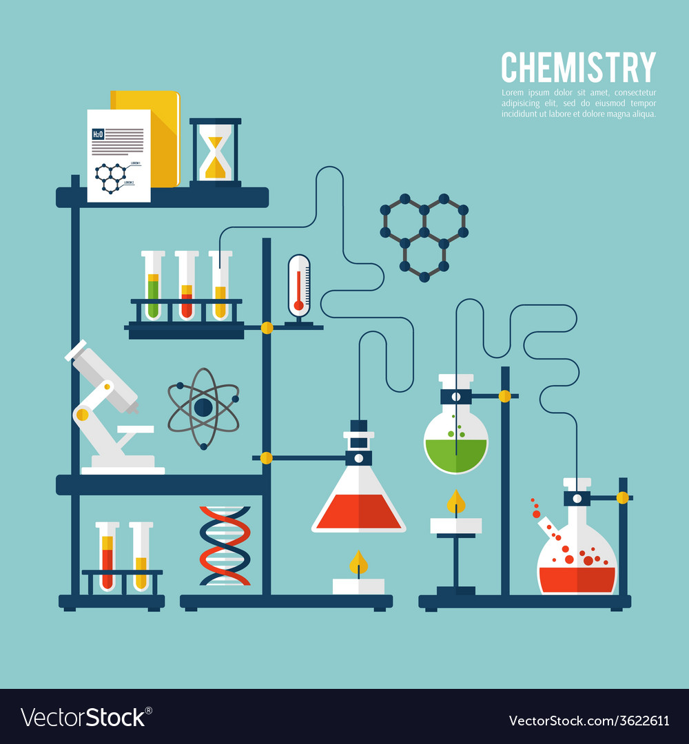 Chemistry background template vector | Price: 1 Credit (USD $1)