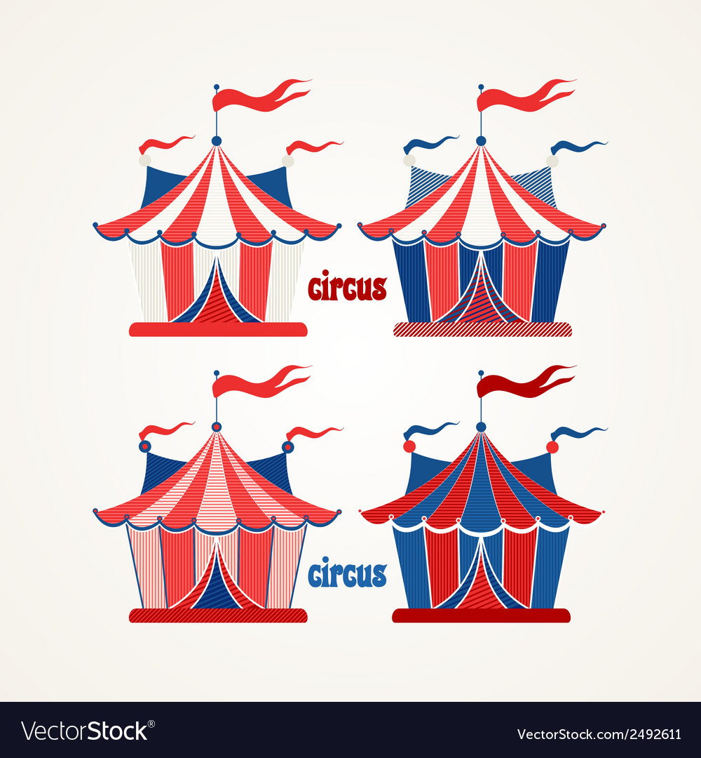 Circus tent vector | Price: 1 Credit (USD $1)