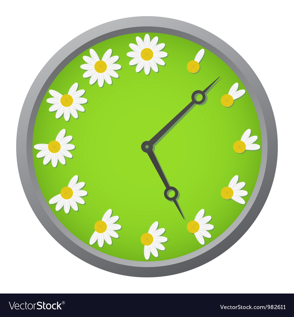 Daisy clock vector | Price: 1 Credit (USD $1)