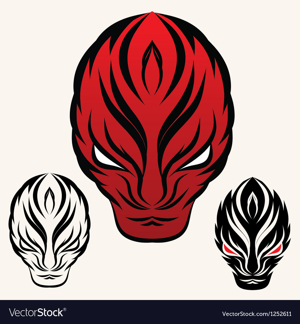 Fire face vector | Price: 1 Credit (USD $1)